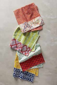 "Ivorian Table Linen - anthropologie.com $8 each Cotton 20"""