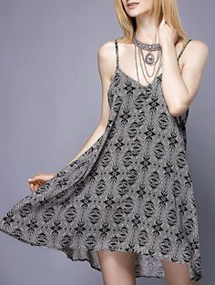 Stylish Spaghetti Strap Tribal Print Sundress For Women Do you like it?  If you are interested in? Here:http://www.sammydress.com/product2781963.html More:http://www.sammydress.com/Wholesale-Summer-Dresses-c-336.html