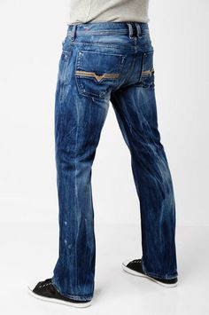 Diesel Zatiny Bootcut Jeans in Medium Blue $126.00