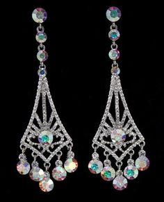 JE-X006261 S-AB  #lmbling #lmblingearrngs #lmblingabearrings #lmblingstatementearrngs #pageantearrings #abpageantearrings #lmblingchandelierearrings #chunkyearrings #pageantjewelry #promjewelry