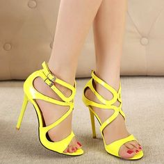 Women wedding high heels platform cut-outs pump sexy party shoes.