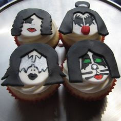 KISS Band Member Kupcakes by clevercupcakes, via Flickr