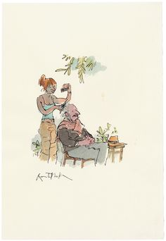 Quentin Blake (b. Ap Drawing, Book Drawing, Quentin Blake Illustrations, Amazing Drawings, Children's Book Illustration, Vintage Children, Watercolor Paper, Art Inspo, Art Sketches