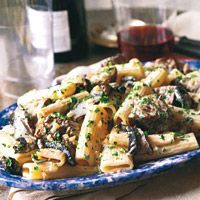 Rigatoni with Sirloin and Gorgonzola Sauce - OMG – this sounds scrumptious!Rigatoni with Sirloin and Gorgonzola Sauce Recipe from Food & Wine - Sauce Recipes, Wine Recipes, Pasta Recipes, Beef Recipes, Cooking Recipes, Recipes With Steak, Sirloin Steak Recipes, Shrimp Recipes, Cheese Recipes