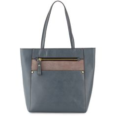 Oryany Daphne Saffiano Leather Tote Bag ($159) ❤ liked on Polyvore featuring bags, handbags, tote bags, grey, oryany purses, gray purse, zipper purse, zip top tote and grey tote bag