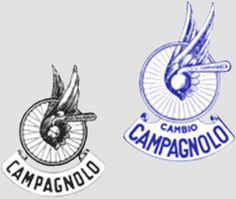 Classic & Vintage - looking for a high res pic of a vintage campy logo - need something a little clearer for a possible tattoo. moreso the one on the left Italian Logo, Classic Italian, Old Bicycle, Bike, Logo Google, Brand Names, Cycling, Logos, Vintage