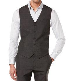 Perry Ellis NEW Gray Mens Size 2XL V-Neck Five-Button Sleeveless Vest $69 078    eBay