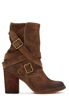 Jeffrey Campbell France Strapped Boot - Brown | Shop Shoes at Nasty Gal