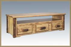 Glacier Country Collection Sitting Chest/Entertainment Center