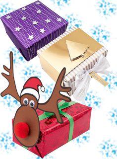 Verpackung der etwas anderen Art. In nur wenigen Schritten können Sie Ihren Geschenken eine funkelnde, schlichte oder ausgefallene Verpackung verpassen.