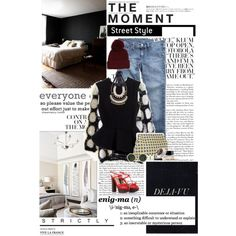 blk, white, and blue jeans.   The Moment on Polyvore