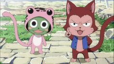 The adorable Exceeds of Sabertooths dragon slayers.