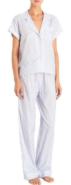 Steven Alan dotted cropped pajama top