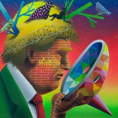 In this new age of American nationalism, Madrid-based artist Okuda San Miguel looks back at the Maya, a pre-Columbian civilization that lasted for thousands of years in Central America and southern Mexico. Spanish Painters, Spanish Artists, Maya, Famous Street Artists, Pop Art, Okuda, Religious Experience, Art Thou, Renaissance