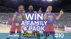 Enter to win a Family 4-pack of tickets courtesy of ABC10 to see the Harlem Globetrotters on January 16, 2017 at Golden 1 Center! One lucky winner will receive the Jr Globetrotters VIP prize pack!