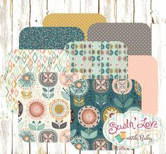 Floral Teal, Cream and Pink Baby Girl Bedding. Create your own custom baby bedding for your new baby girl from #SewInLoveWithBaby