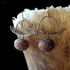 Rusty brown jasper earrings by karmahjean on Etsy, $45.00
