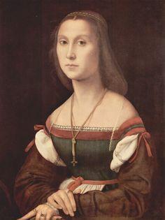 Raphael (Raffaello Sanzio) -  Portrait of a Young Woman (La Muta), c. 1507