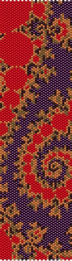 Purple Spiral Peyote Cuff Beaded Bracelet by RubyDsArtandJewelry