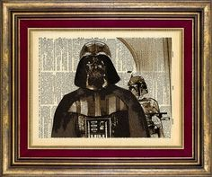 Darth Vader Dictionary page art print book page art print up cycled on Etsy, $9.00
