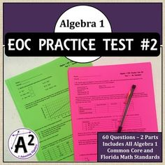 26 Best Algebra 1 Eoc Review Images Algebra 1 Algebra Algebra I