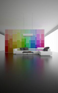 Color wall via Behance