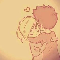 Imagem através do We Heart It #couple #couples #cute #drawings #hug #love #Relationship