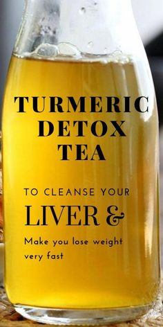 Turmeric Detox Tea To Cleanse Your Liver And Lose weight Very Fast - Fa. Powerful Turmeric Detox Tea To Cleanse Your Liver And Lose weight Very Fast - Fa. Powerful Turmeric Detox Tea To Cleanse Your Liver And Lose weight Very Fast - Fa. Healthy Detox, Healthy Drinks, Healthy Weight, Easy Detox, Healthy Eating, Healthy Water, Vegan Detox, Healthy Foods, Clean Eating
