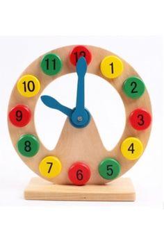 Ahşap Eğitici Saat Görünümlü Oyuncak
