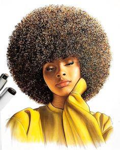 Black art in 2019 black women art, black art pictures, black art. Black Love Art, Black Girl Art, Black Is Beautiful, Black Girls, Art Girl, Black Women, Natural Hair Art, Natural Hair Styles, Afrique Art