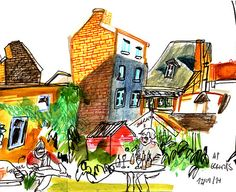 Urban Sketchers Spain. El mundo dibujo a dibujo.: EL REGALO DE GERARD