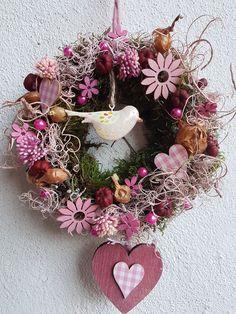 Türkränze -  Türkranz ♥ Frühling ♥ Blumenwiese ♥ rosa - ein Designerstück von blumen-atelier bei DaWanda