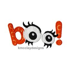 Boo applique for Halloween. Machine Embroidery by kmcclaydesigns, $2.99