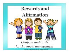 These reward coupons and affirmation cards is a bundle to help you  manage your class better and promote happy and healthy self-esteem to your students.Reward coupons include:1. My Life, My tunes- Listen to music while working2. I like my new seat- Pick your new seat3.Woo-Hoo- Free Assignment Day4.