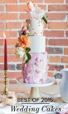 Best of 2015: Wedding Cakes | via Love Inc. | photography by Laura Kelly Photography