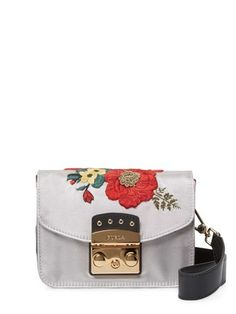 39a724536775 Furla New Handbag Floral Metropolis Mini Crossbody Italy Accaiao Satin  Satchel - Tradesy Mini Crossbody Bag
