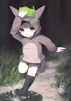 anime girl as totoro ~ this is so unbelievably kawaii!