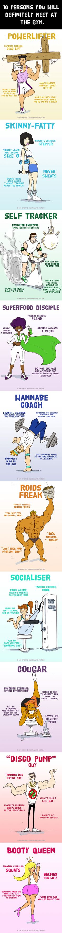 10 persons you will definitely meet at the gym - 9GAG
