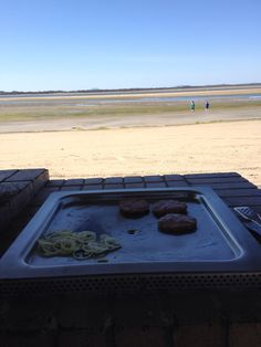 BBQ at Shallow Inlet Beach, Sandy Point (low tide)