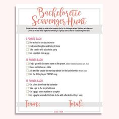 Make the bride-to-be's bachelorette night super special with this free (yep, FREE!) bachelorette scavenger hunt digital download! Transform a normal night out w