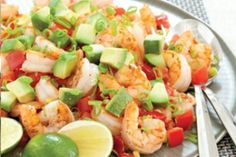 Pan-Seared Shrimp with Tomatoes and Avocado