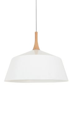 Husk 400mm Pendant in Matt White/Ash.