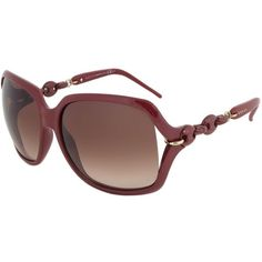 Gucci GG 3584/S 3GQJD Oversized Square Sunglasses ($199) ❤ liked on Polyvore featuring accessories, eyewear, sunglasses, gucci, red, oversized square sunglasses, brown gradient sunglasses, lens glasses, over sized sunglasses and square sunglasses