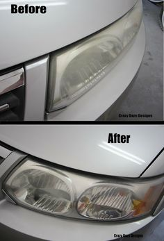 diy cleaning headlights