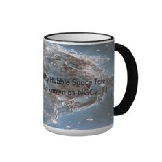 Outer space Photo Coffee Mug. Taken with the Hubble telescope in February 2014, enhanced using Photoshop CC.