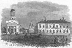 British Seaman's Hospital & Church, Kronstadt, 1866 - from the Illustrated London News