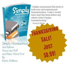 Simply Homeschool 2nd Edition is just $0.99!(KINDLE VERSION or PDF!)