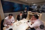 Inside the OMEGA booth at BaselWorld 2012.