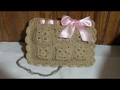 DIY Tutorial - How to Crochet Easy Beginner Evening Bag Clutch Purse Wallet Pouch - Zipper Lining - YouTube