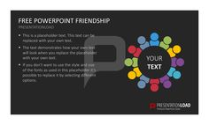 This PowerPoint set includes graphics on friendship and a number of text slides.